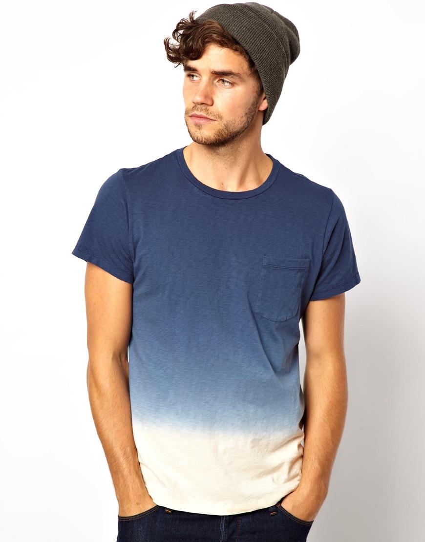Paul Smith Dip Dye Tshirt In Blue For Men Lyst