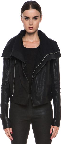 Rick Owens Clean Biker Leather Jacket - Lyst