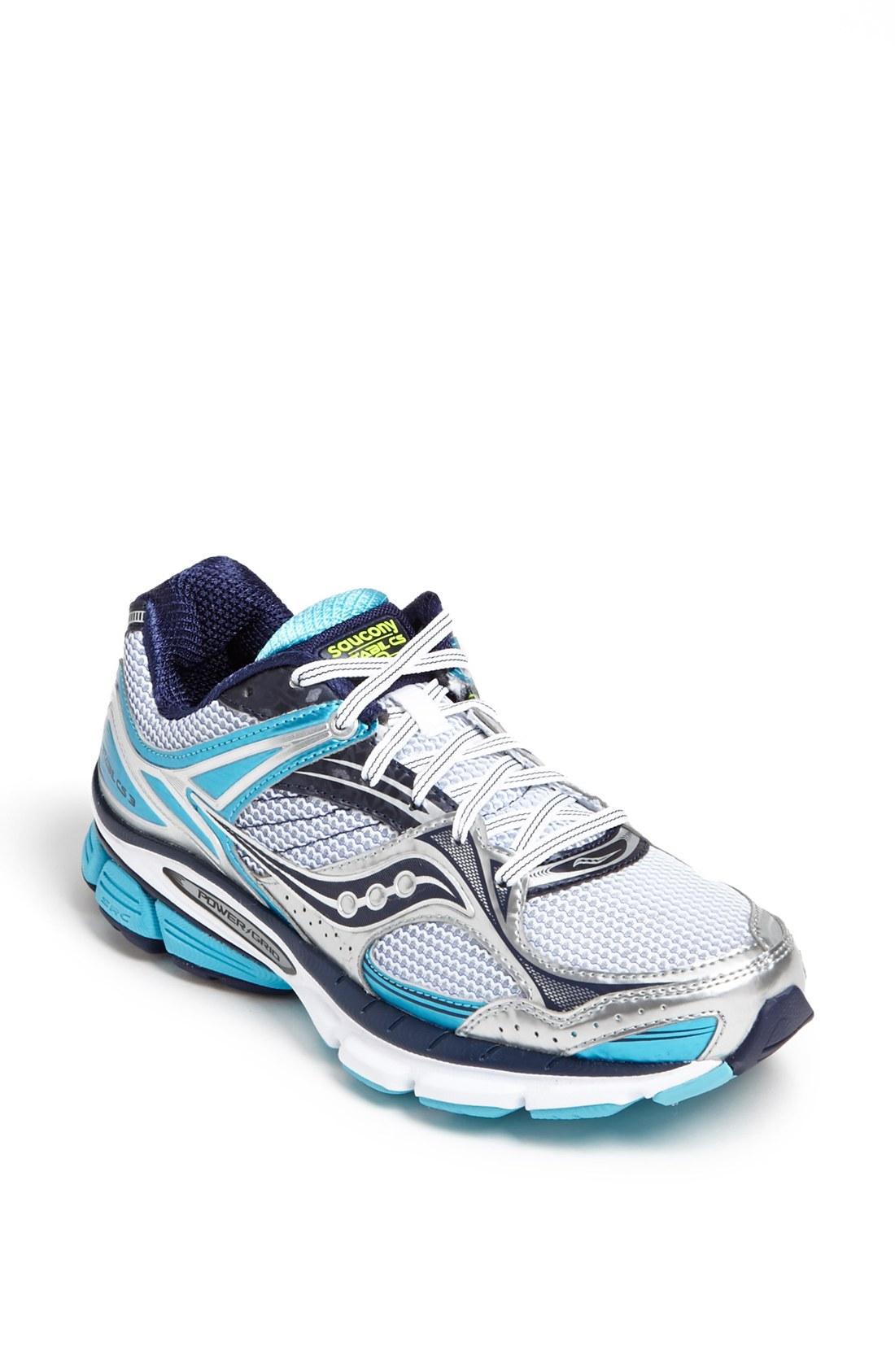 saucony stabil cs3 running shoe in white white blue. Black Bedroom Furniture Sets. Home Design Ideas
