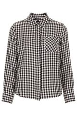 Topshop  Mini Gingham Shirt