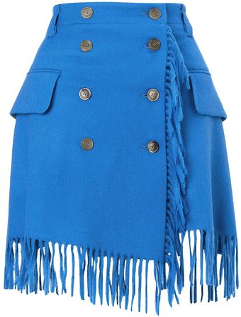 Wunderkind Blue Alpaca Blanket Skirt - Lyst