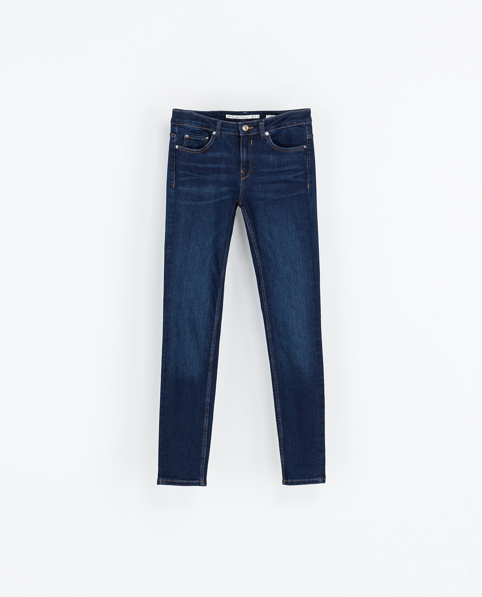 Zara skinny old blue jeans in blue lyst for Old denim