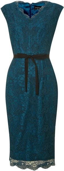 Ariella Lace V Neck Shift Dress - Lyst