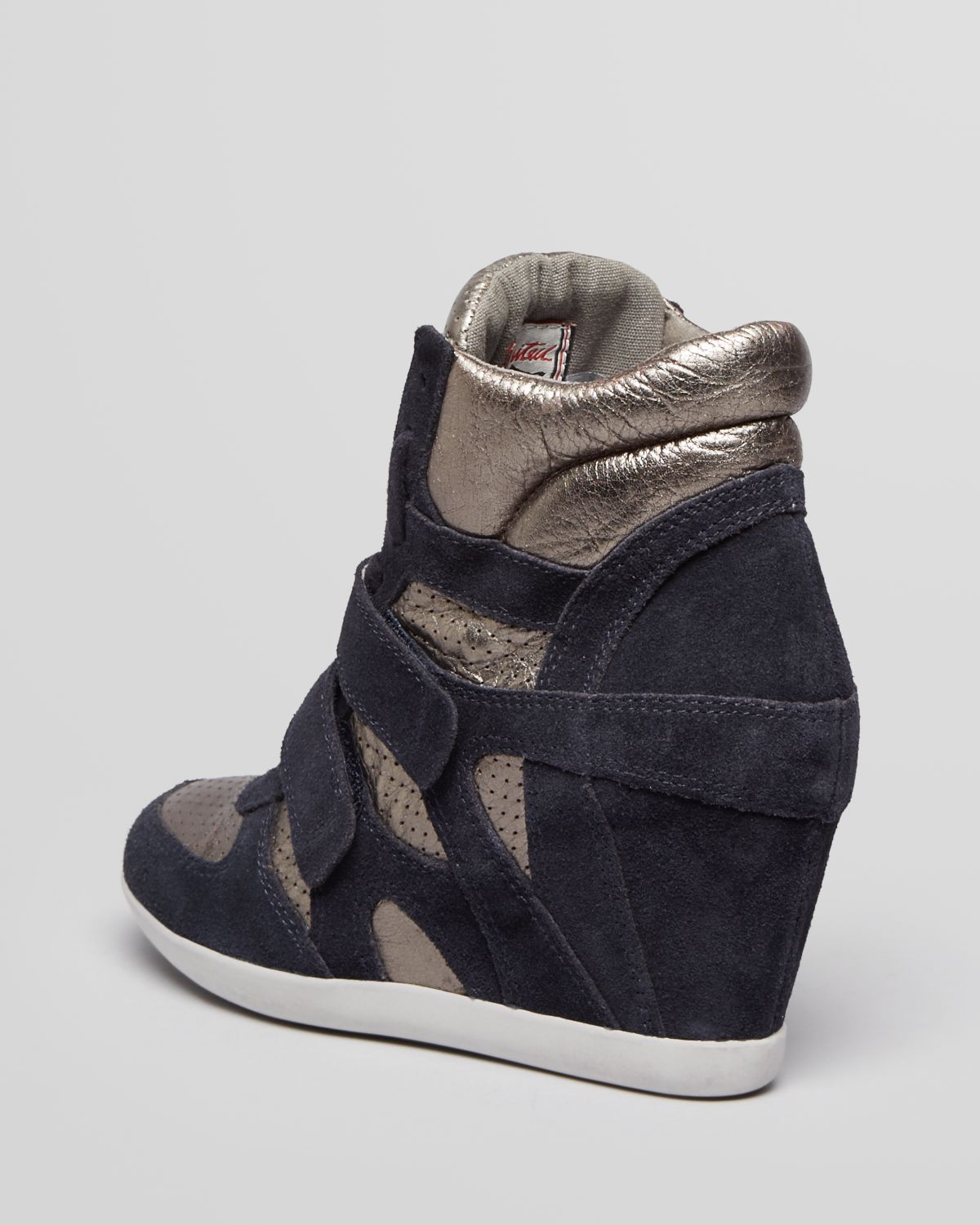 lyst ash high top wedge sneakers bea in blue. Black Bedroom Furniture Sets. Home Design Ideas