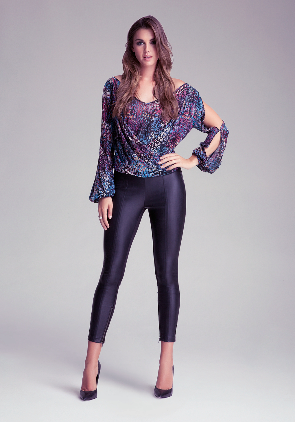 Bebe Side Zip Panel Leggings In Black Lyst