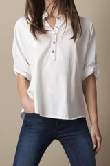 Burberry Relaxed Fit Cotton Shirt - Lyst