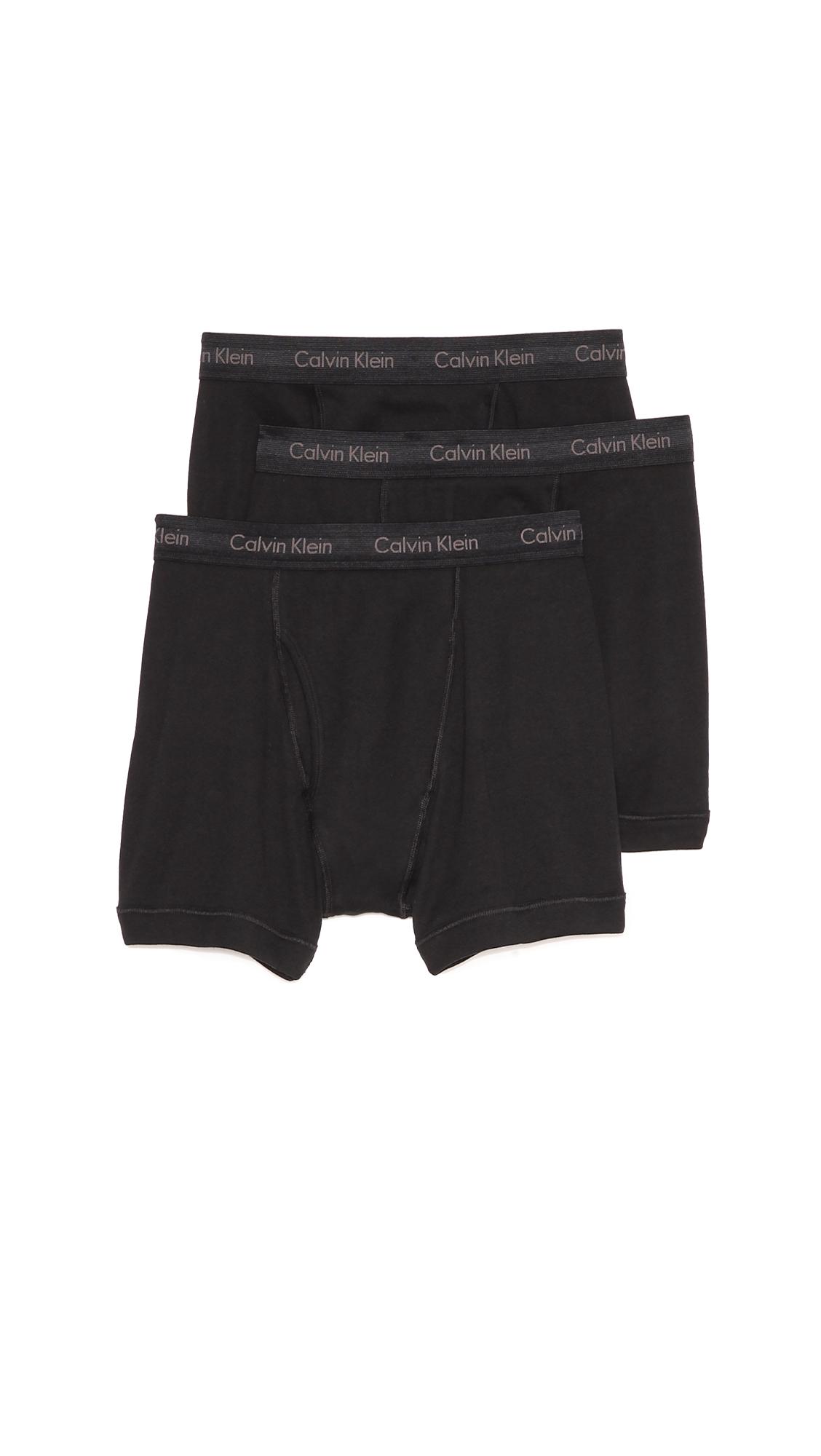 calvin klein 3 pack boxer briefs in black for men lyst. Black Bedroom Furniture Sets. Home Design Ideas