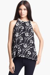 Elizabeth And James Etta Sleeveless Silk Top - Lyst