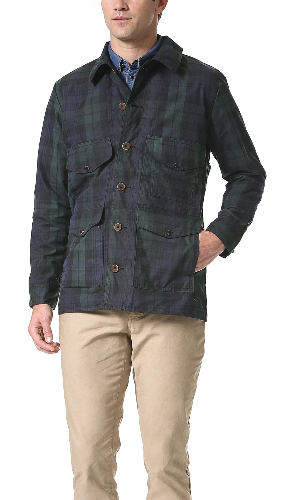 Lyst Filson Guide Fit Cruiser Jacket In Black For Men