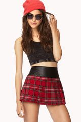 Forever 21 Edgy Plaid Mini Skirt - Lyst