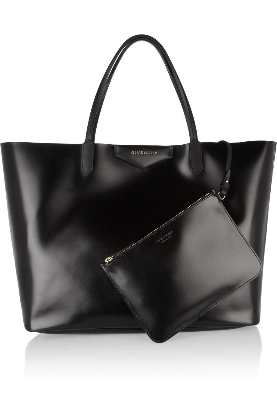 1b139291799a Givenchy Large Antigona Shopping Bag in Shiny Black Leather in Black ...