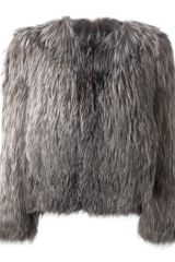 Isabel Marant Fox Fur Jacket - Lyst