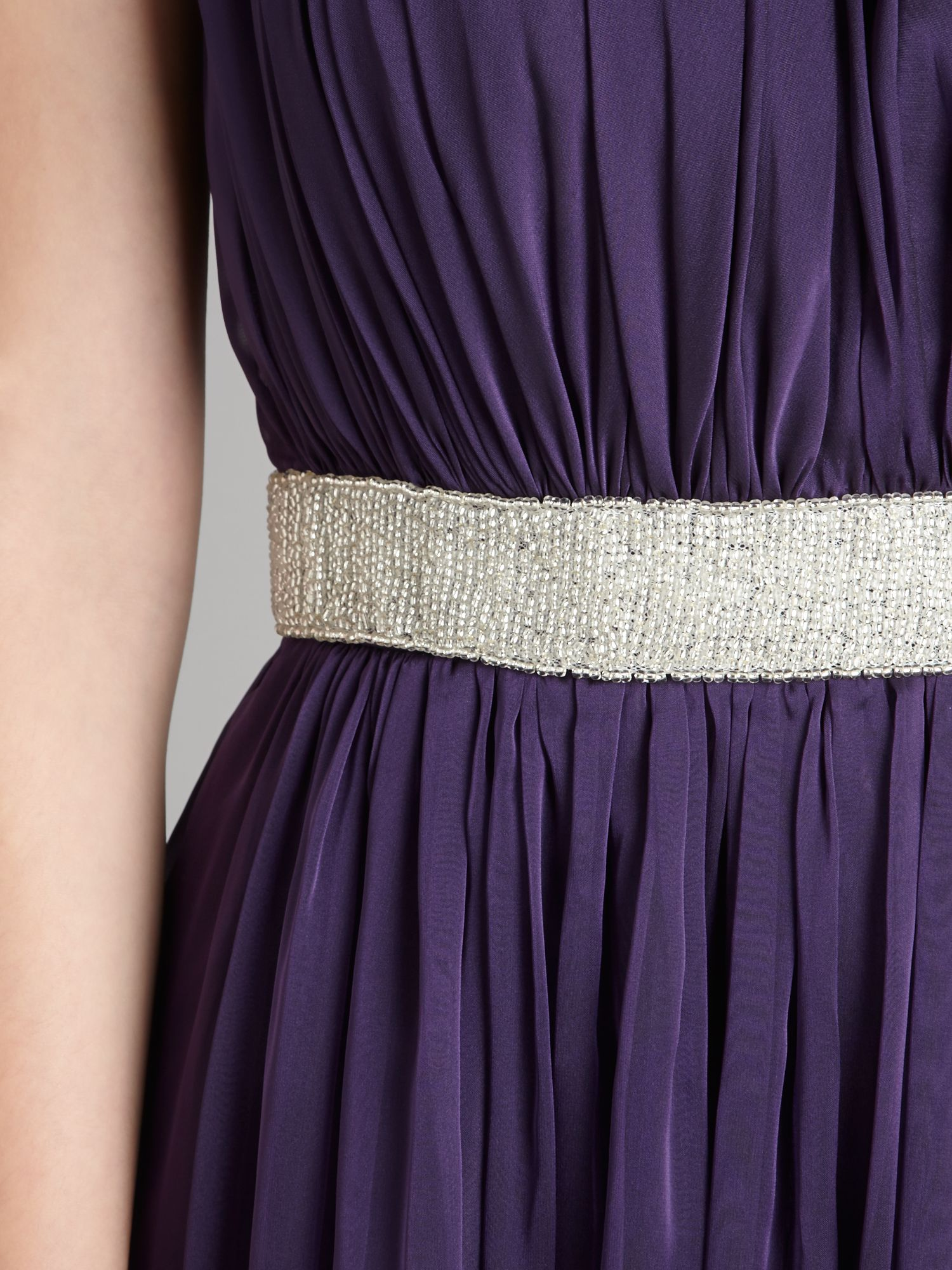 Js Collections Beaded Waist Chiffon Dress in Purple - Lyst