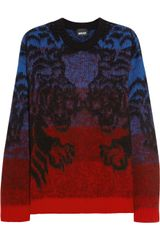 Just Cavalli Tiger Intarsia Woolblend Sweater - Lyst