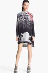 Mary Katrantzou Print Silk Shirt-dress - Lyst