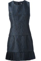 McQ by Alexander McQueen Laceup Embroidered Dress - Lyst