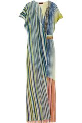 Missoni Metallic Fine-knit Wrap Kaftan - Lyst