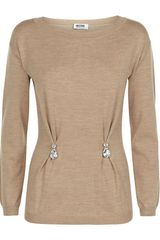 Moschino Cheap & Chic Merino Wool Jewel Drop Jumper - Lyst