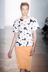 Peter Som Spring 2014 Short Sleeve Floral T-Shirt