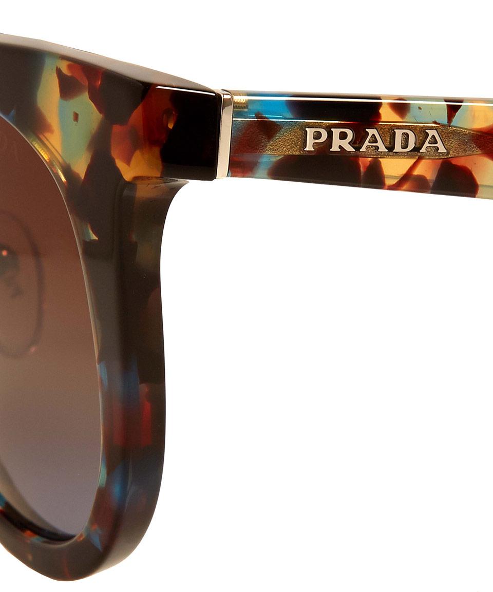 7e4ceecf50a1 ... best price lyst prada tortoiseshell pr08ps round acetate sunglasses  7f718 e5cf1