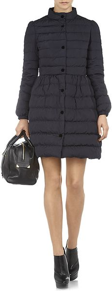 Red Valentino Daune Puffer Jacket With Bow Back In Black