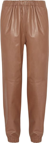 See By Chloé Leather Track Pants - Lyst