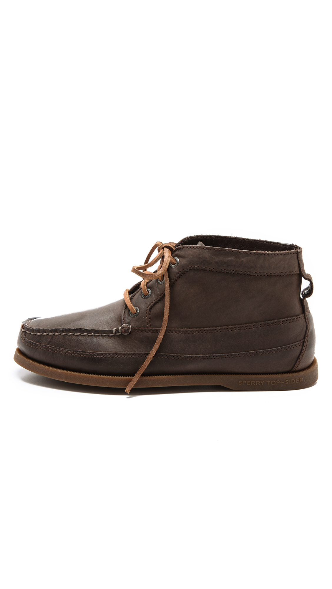 sperry top sider boat chukka boots in brown for lyst