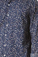 Steven Alan Navy Grey Floral Shirt - Lyst