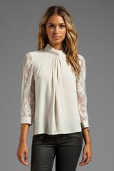 Alice By Temperley Regalia Blouse in Cream - Lyst