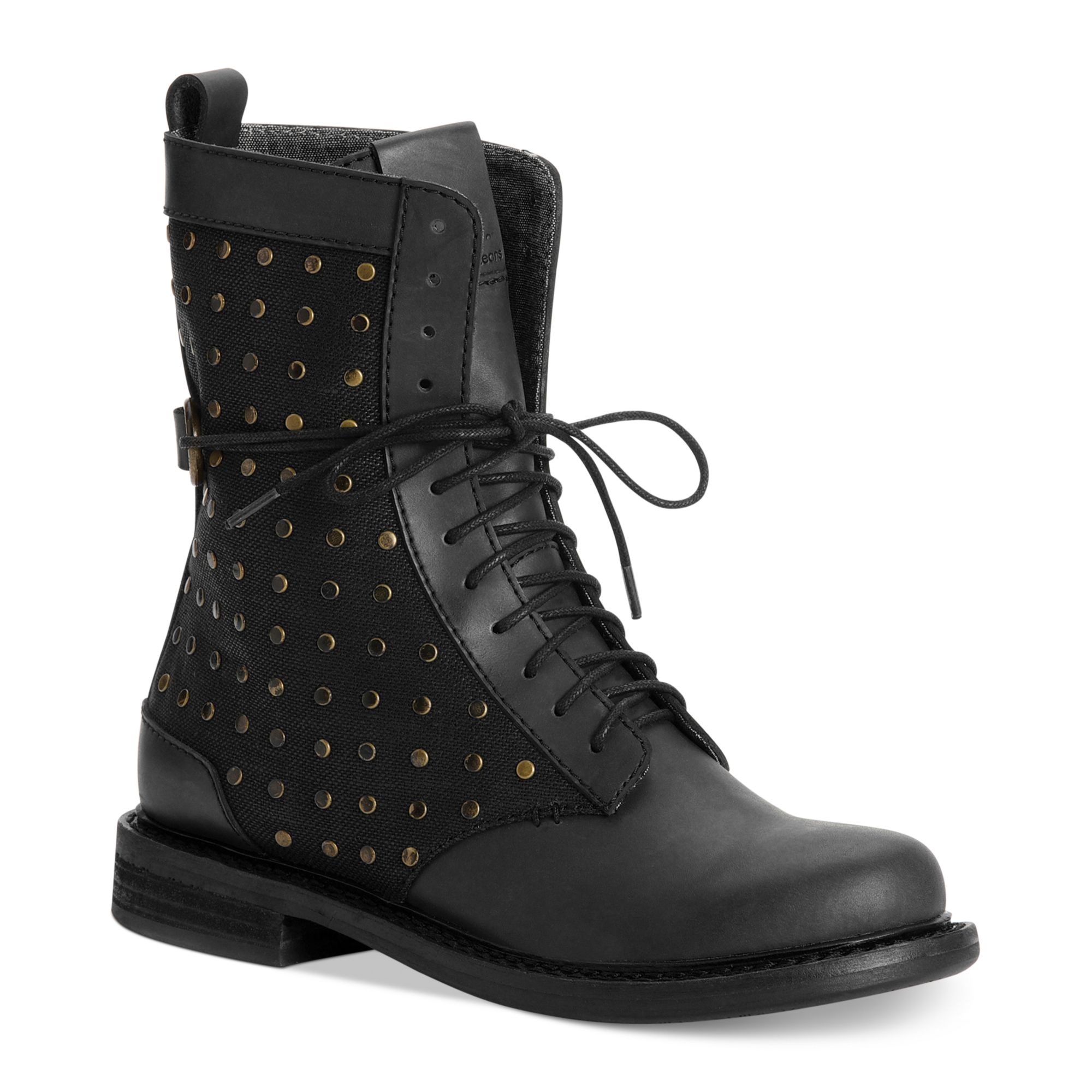Calvin Klein Ck Jeans Womens Boots Cassey Combat Booties ...