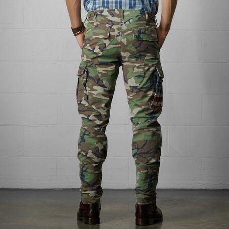 Camo Cargo Pants For Men Slim Cotton Camo Cargo Pant in