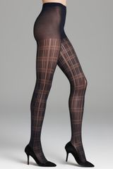 DKNY Bold Plaid Tights - Lyst