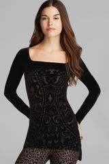 Free People Tunic It Girl Burnout Velvet Boogie Nights - Lyst