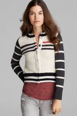 Free People Cardigan Broad Street Baseball - Lyst