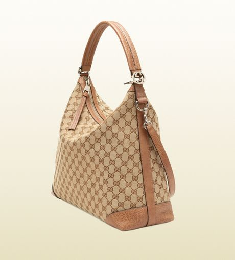 f46e18066ab Gucci Miss Gg Original Gg Canvas Hobo in Brown (beige)