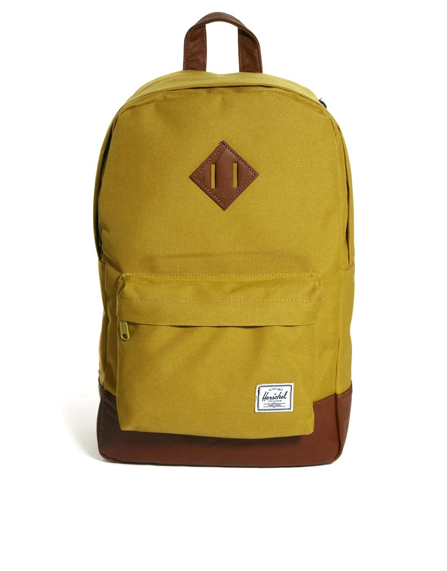 Lyst - Herschel Supply Co. Heritage Mid Volume Backpack in Natural 04ef3eb1171cf