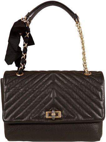 Lanvin Large Black The Happy Quilted Shoulder Bag - Lyst