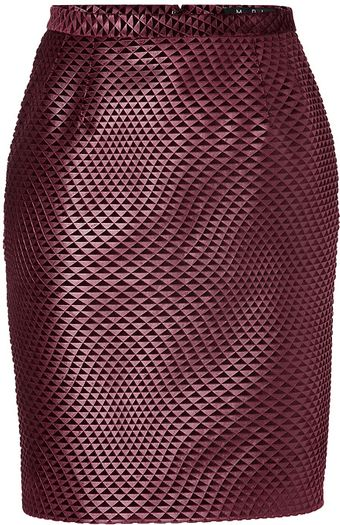Marios Schwab Pencil Skirt in Port - Lyst