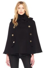 Michael by Michael Kors Pea Coat Cape - Lyst