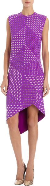 Narciso Rodriguez Geometric Print Sheath - Lyst