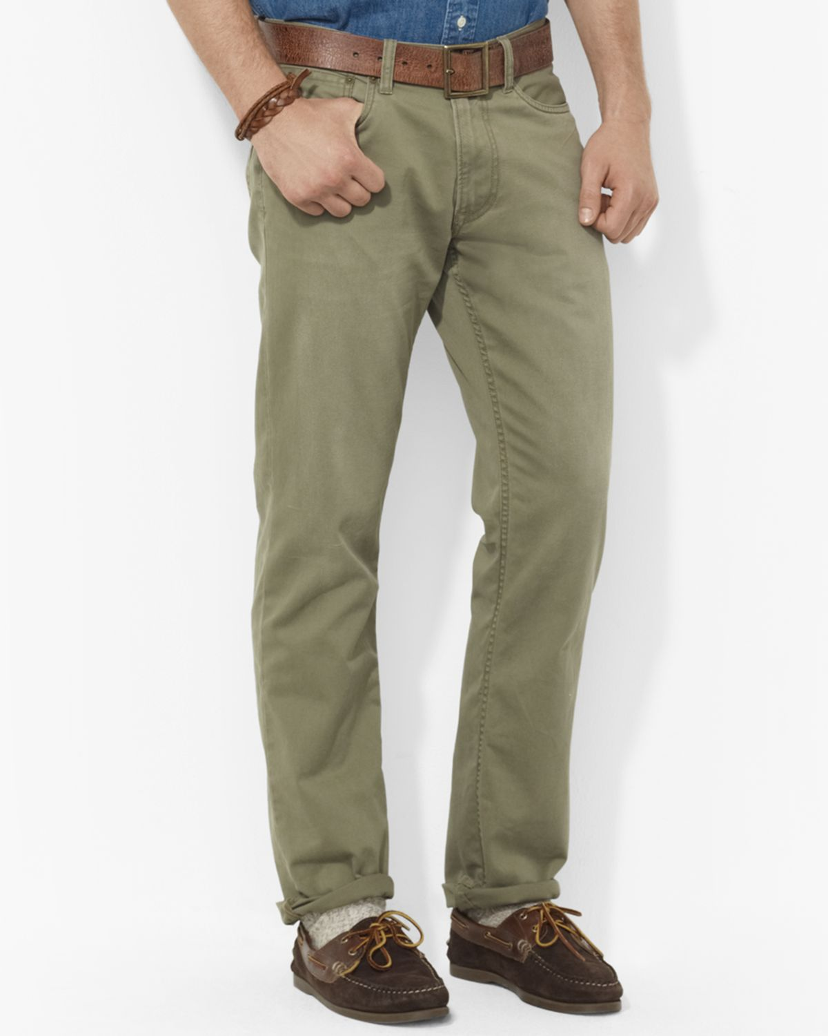 a6e6055fea5712 Polo Ralph Lauren Straight-fit Five-pocket Chino Pant in Green for ...
