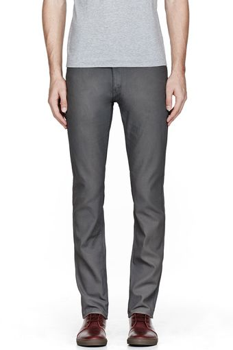 Robert Geller Grey Coated Classic Jeans - Lyst