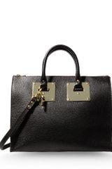 Sophie Hulme Large Leather Bag - Lyst