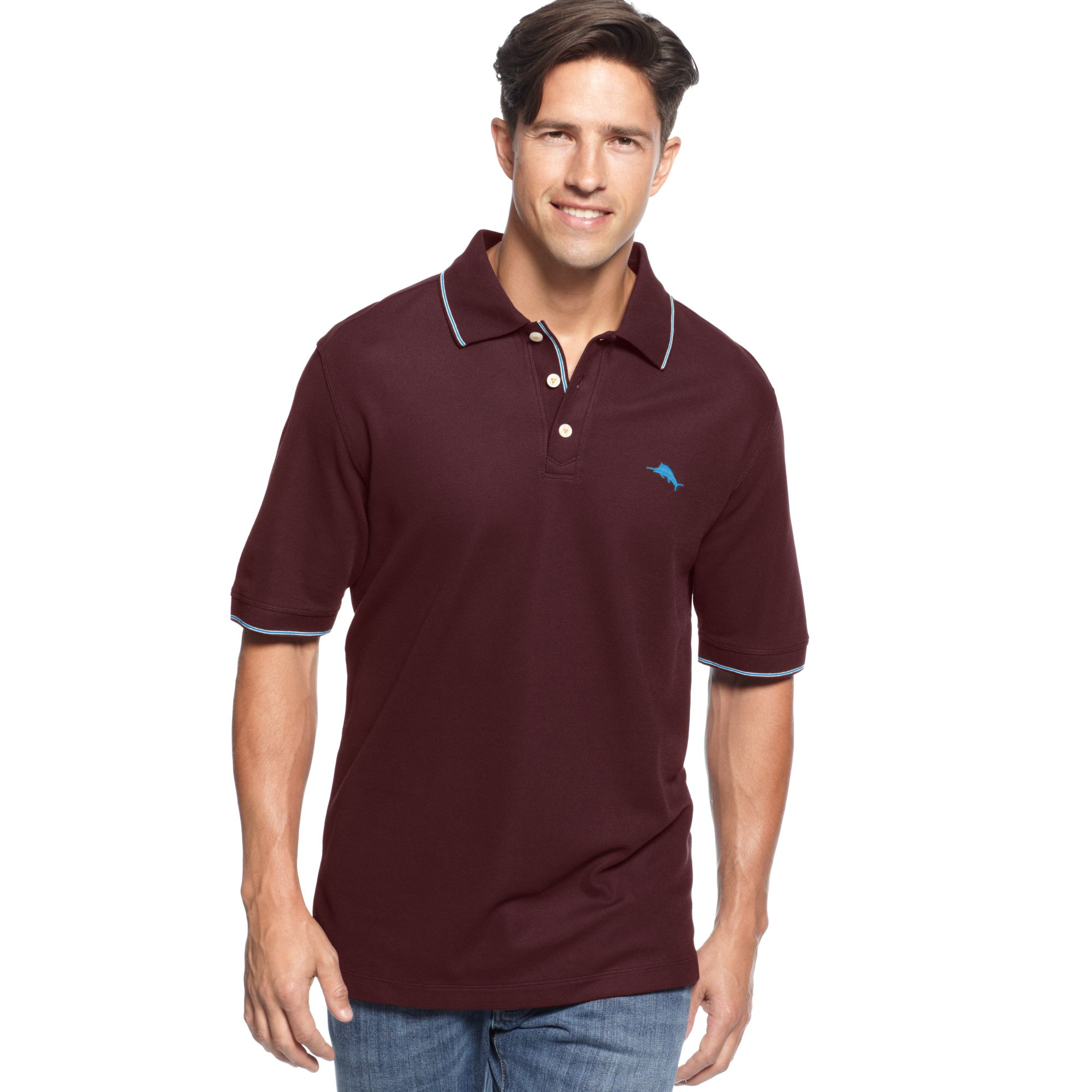 Tommy Bahama Courtside Vip Polo Shirt In Purple For Men