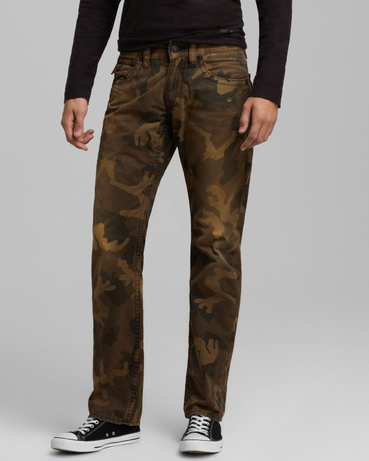 Lyst - True Religion Jeans Ricky Straight Fit in Camo in Brown for Men 9394c3b37b41