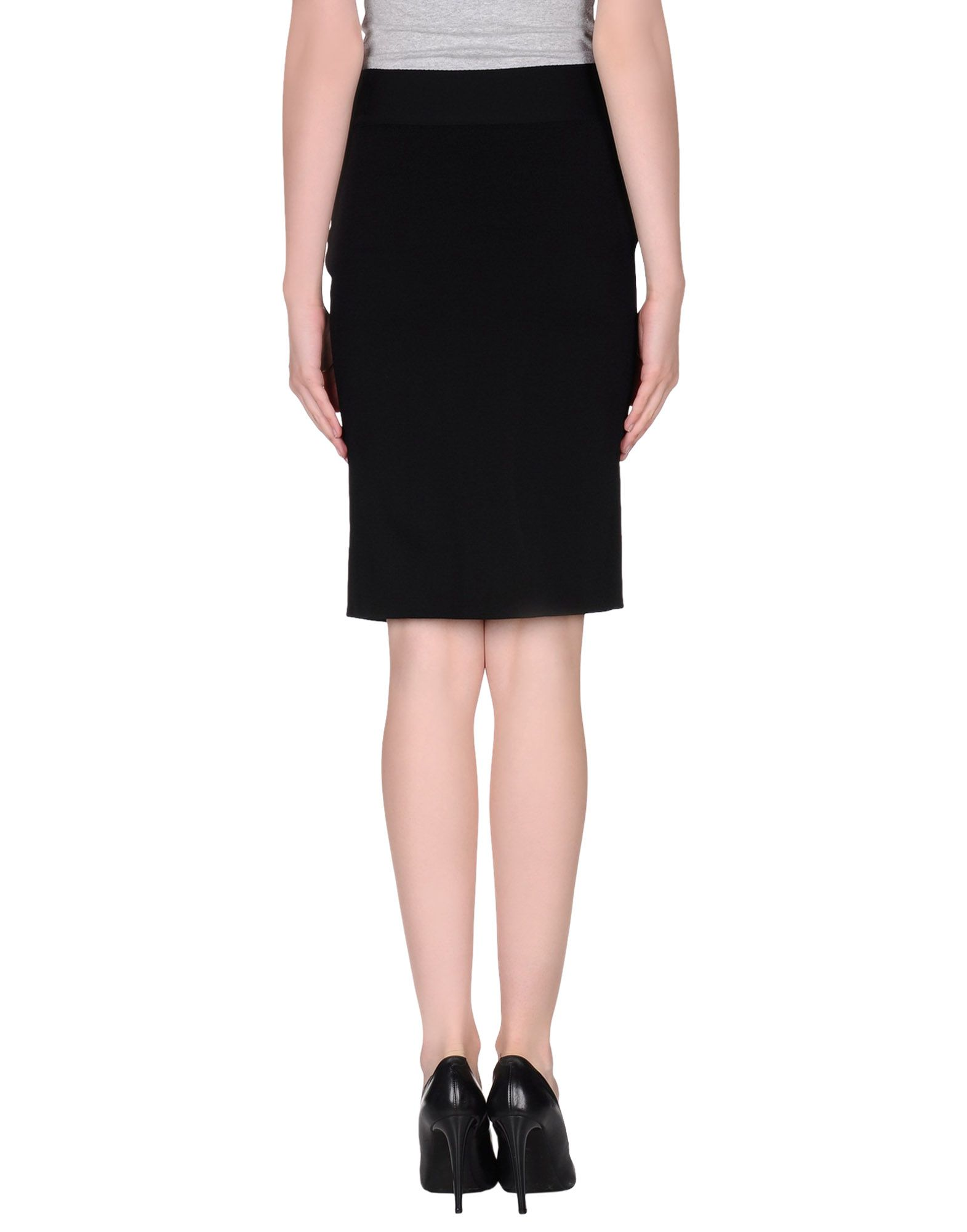 valentino knee length skirt in black lyst
