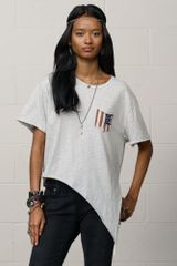 Denim & Supply Cotton Sidetie Tee - Lyst
