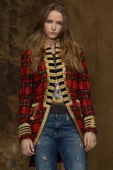 Denim & Supply Tartan Officers Coat - Lyst