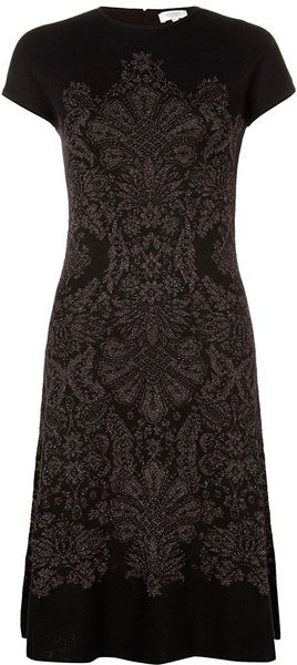 Hobbs Damask Knitted Dress - Lyst
