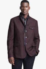 John Varvatos Zip and Button Jacket - Lyst